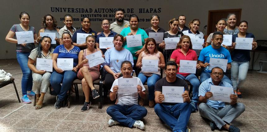 Clausura del curso Nutrición y alimentación saludable en Tapachula